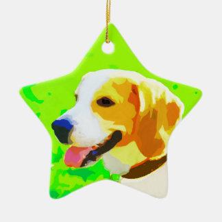 Beagle Painting Portrait Pop Art Ceramic Ornament