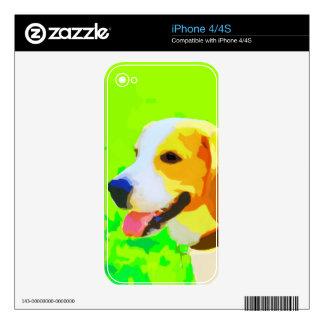 Beagle Painting Portrait Pop Art Decals For The iPhone 4