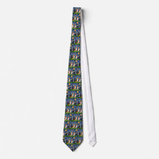 Beagle Pair - Starry Night Neck Tie