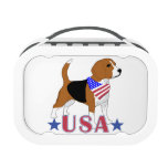 Beagle patriótico de los E.E.U.U.