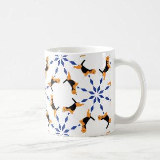 Beagle Pattern blue Coffee Mug
