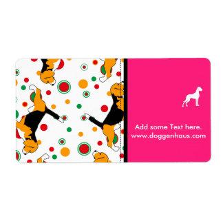 Beagle Pattern Label