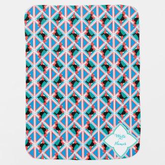 Beagle Pattern Quattrodog Receiving Blanket