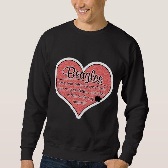 Beagle Paw Prints Dog Humor Sweatshirt