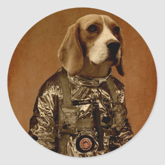 Beagle Pegatina Redonda