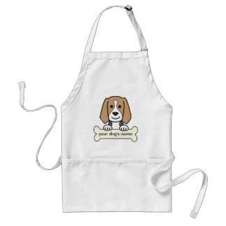 Beagle personalizado delantal