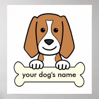 Beagle personalizado póster