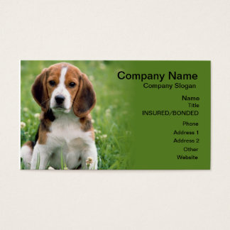 Beagle Pet Sitting Business Card