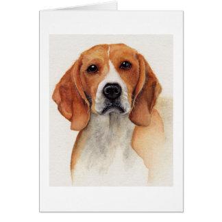 Beagle pintado en Watercolour Tarjeta De Felicitación