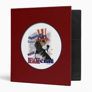 Beagle Political Humor Binder