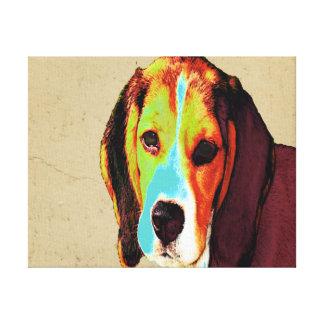 Beagle Pop Art Canvas Print