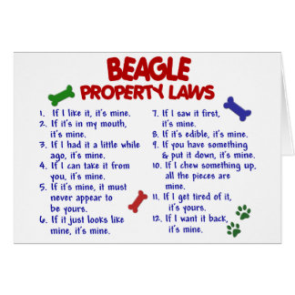BEAGLE Property Laws 2 Greeting Card