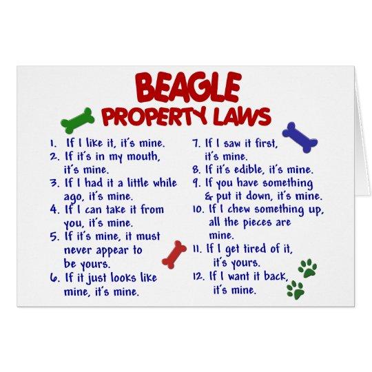 BEAGLE Property Laws 2 Card