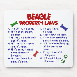 BEAGLE Property Laws 2 Mouse Pad