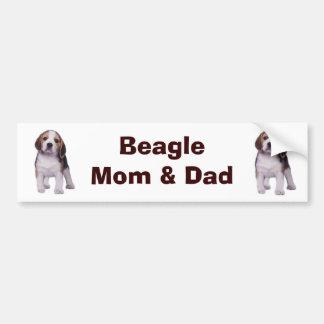 Beagle Pup Bumper Sticker Car Bumper Sticker