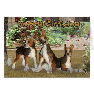 Beagle Puppies Birthday Card