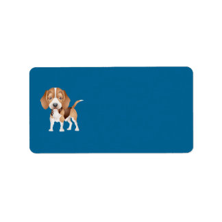 Beagle Puppy Address Label