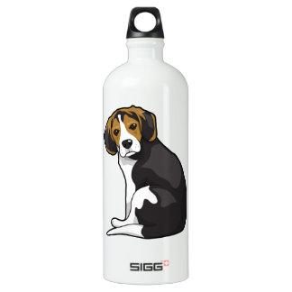 Beagle Puppy Aluminum Water Bottle
