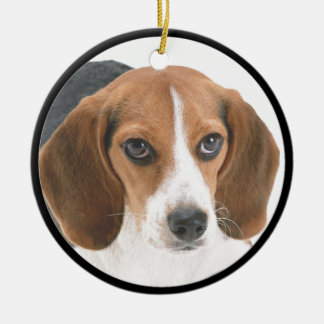 Beagle Puppy Ceramic Ornament