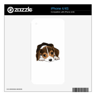 Beagle Puppy Decal For iPhone 4S