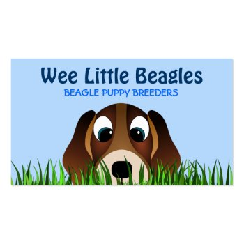 Beagle Puppy Dog Breeders Business Cards