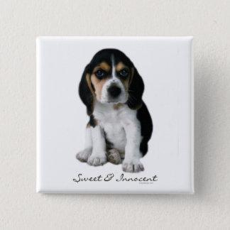 Beagle Puppy Dog Button