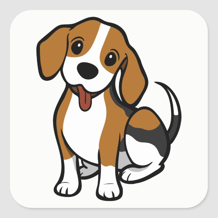 Beagle Puppy Dog Cartoon Love Beagles Stickers Zazzle Com