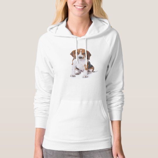 Beagle Puppy Dog Ladies Hooddie Sweatshirt