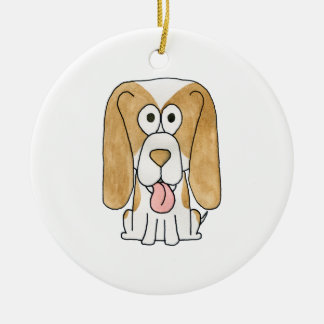 Beagle Puppy Dog. Christmas Tree Ornament