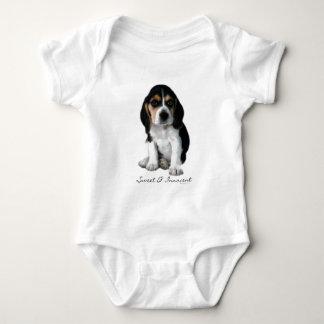 Beagle Puppy Dog Photograph Baby Bodysuit