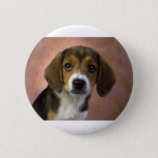 Beagle Puppy Dog Pinback Button