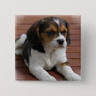 Beagle Puppy Dog Square Pin