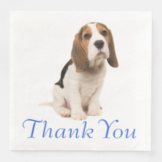 Beagle Puppy Dog Wedding Party Thank You Paper Dinner Napkin