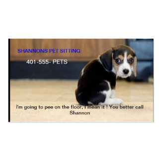 beagle puppy, I'm going to pee on the floor, I ... Double-Sided Standard Business Cards (Pack Of 100)