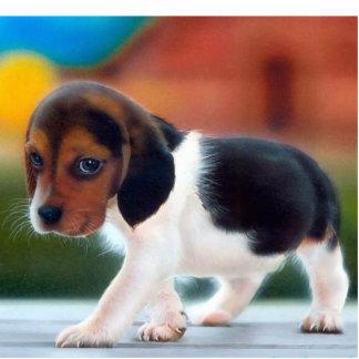 Beagle Puppy Photo Sculpture