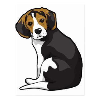 Beagle Puppy Postcard
