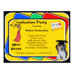 Beagle Puppy Red Graduation Growler Party Invite