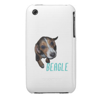 Beagle Puppy Sitting - Customize Background Color Case-Mate iPhone 3 Cases