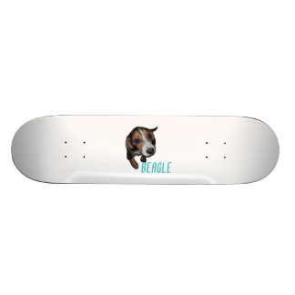 Beagle Puppy Sitting - Customize Background Color Skate Board Deck