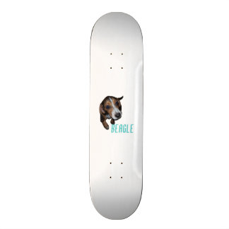 Beagle Puppy Sitting - Customize Background Color Skate Deck