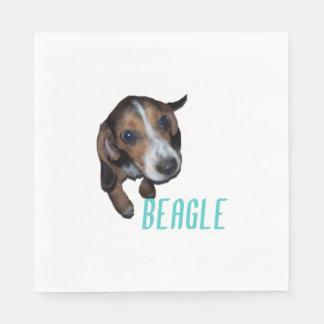 Beagle Puppy Sitting Down Paper Napkin