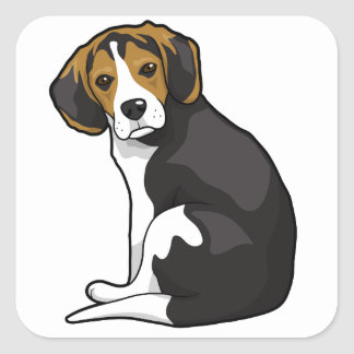 Beagle Puppy Square Sticker