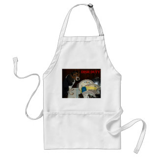 Beagle Puppy Standing on Dishwasher Door Adult Apron