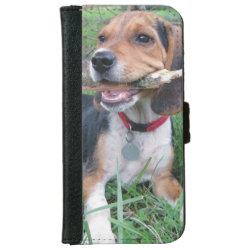 iPhone 6 Wallet Case with Beagle Phone Cases design