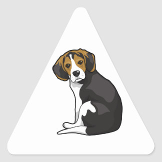 Beagle Puppy Triangle Sticker