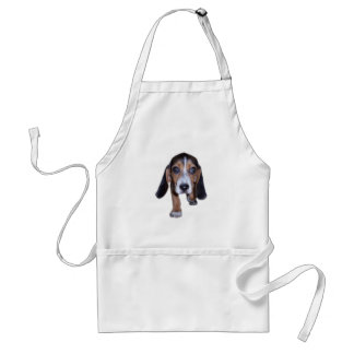 Beagle Puppy Walking - Front View Aprons