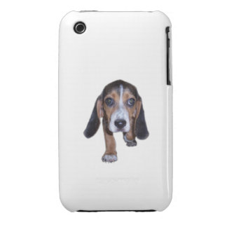 Beagle Puppy Walking - Pick Your Background Color iPhone 3 Covers