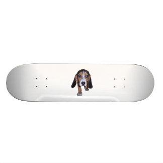 Beagle Puppy Walking - Pick Your Background Color Skateboard Deck