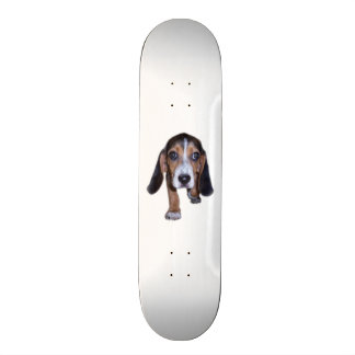 Beagle Puppy Walking - Pick Your Background Color Skate Board Decks