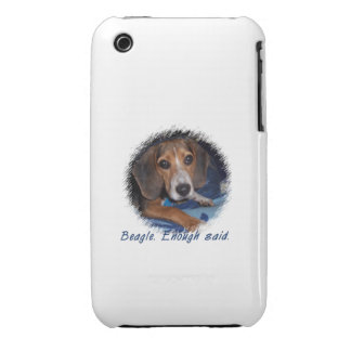 Beagle Puppy With Attitude - Custom Background Case-Mate iPhone 3 Cases